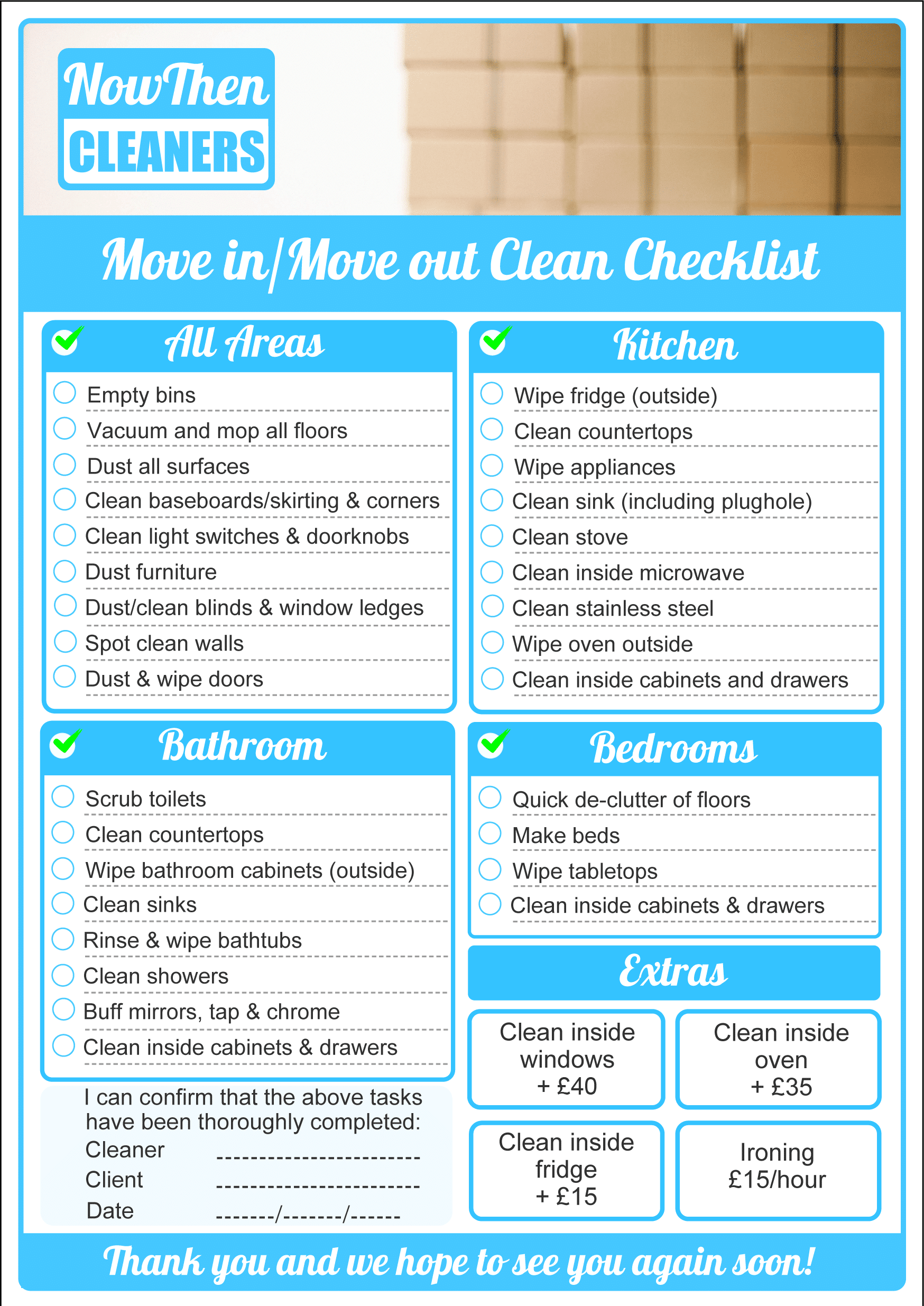 House Cleaning Checklist Uk - house cleaning